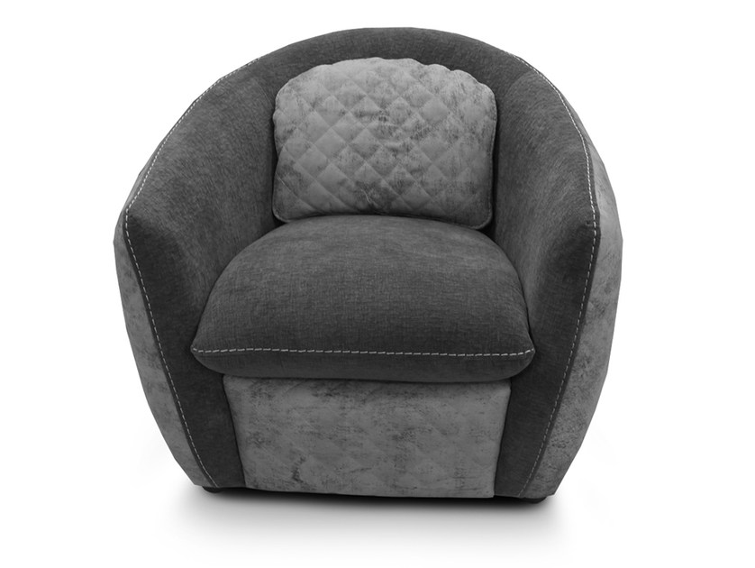 Fabric easy chair with armrests CHANEL | Fabric easy chair by Nieri