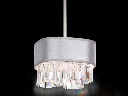 Fabric pendant lamp with Swarovski® Crystals ZEPPA | Fabric pendant lamp by Schonbek