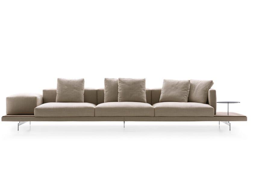3 seater fabric sofa DOCK | Fabric sofa by B&B Italia