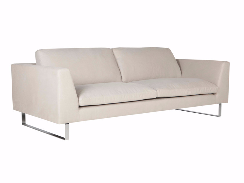 Sled base upholstered 3 seater fabric sofa TOKYO | Fabric sofa by SITS