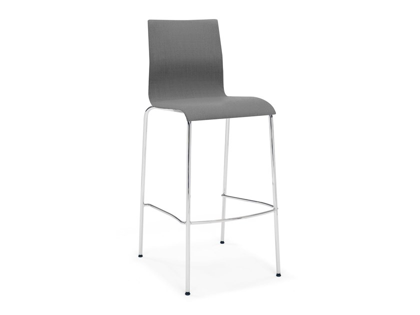 Upholstered fabric barstool with footrest NOA BARSTOOL | Fabric stool by Casala
