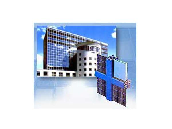 Glass Continuous facade system Photovoltaic facade by Sap Sistemi