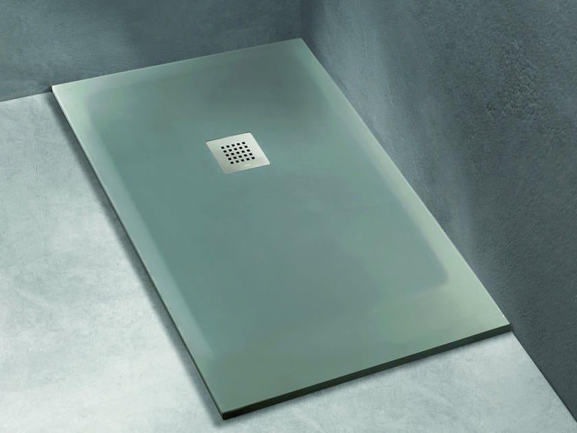 Piatto doccia rettangolare in Solid Surface FACE by Blu Bleu