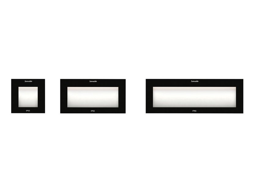 LED wall-mounted technopolymer steplight FACI GLASS by Artemide