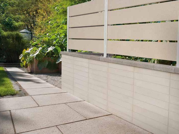 Reconstructed stone Element for perimeter enclosure EASY by DONZELLA PAVIMENTI