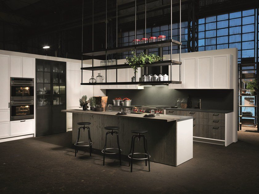 FACTORY | Kitchen With Island Factory Collection By Aster Cucine S.p.A.  Design Lorenzo Granocchia