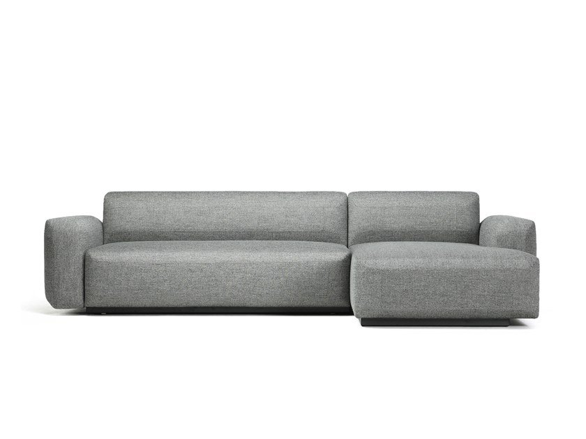 Sofa bed with removable cover with chaise longue FADE | Sofa bed with chaise longue by prostoria