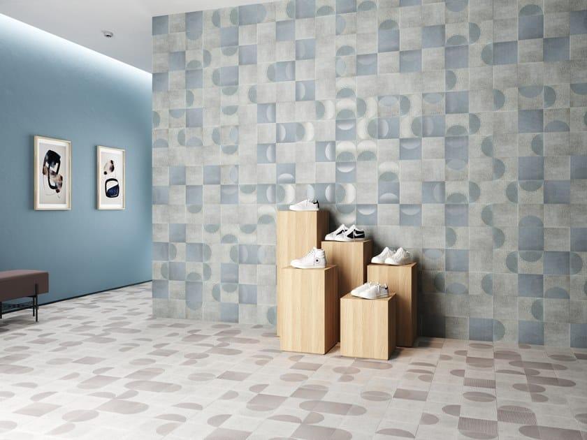 Pavimento/rivestimento in gres porcellanato per interni ed esterni FADING by Harmony