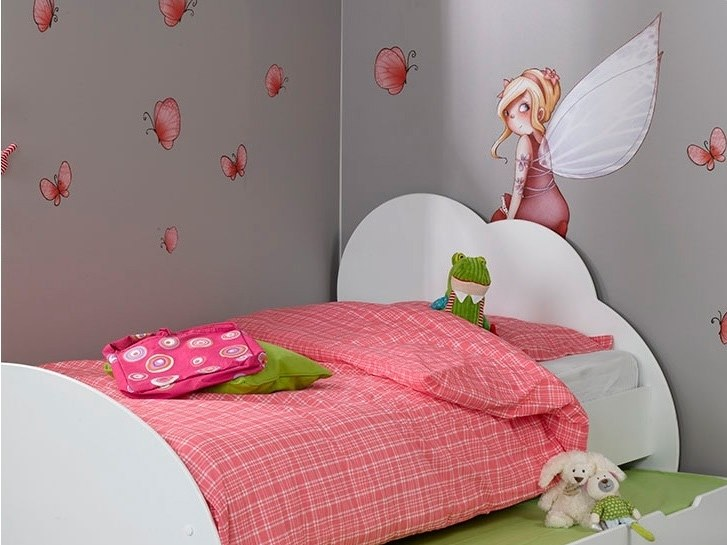 Kids wall sticker with floral pattern FAIRY AND BUTTERFLIES by ACTE-DECO