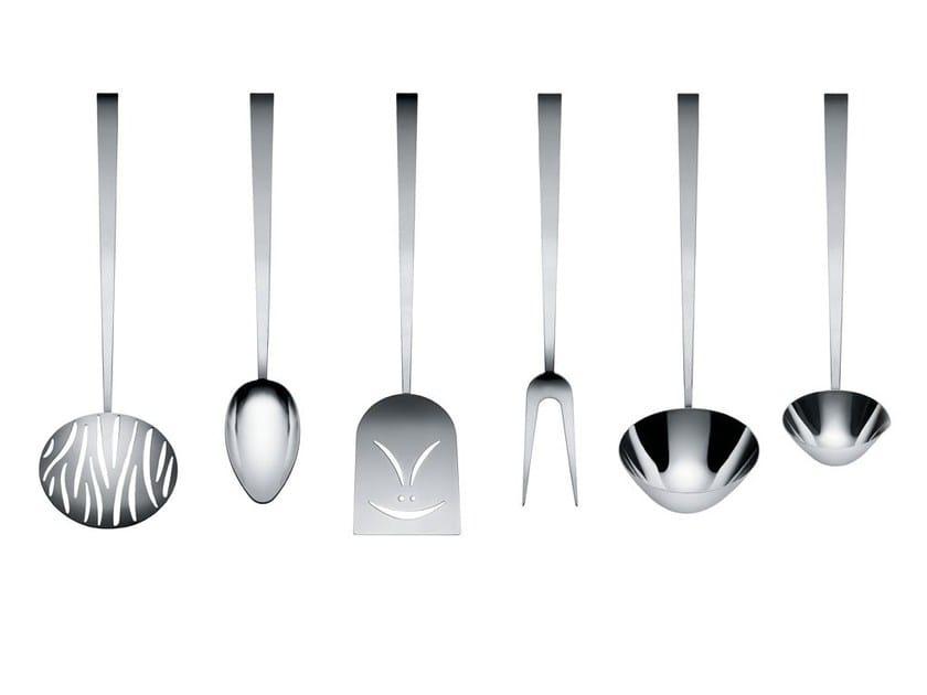 Set utensili da cucina in acciaio inox faitoo by alessi design