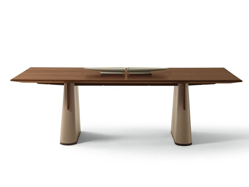 Rectangular wooden table FANG | Rectangular table by GIORGETTI