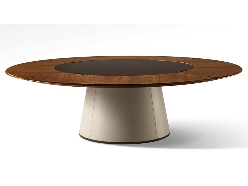 Round wooden table FANG | Round table by GIORGETTI
