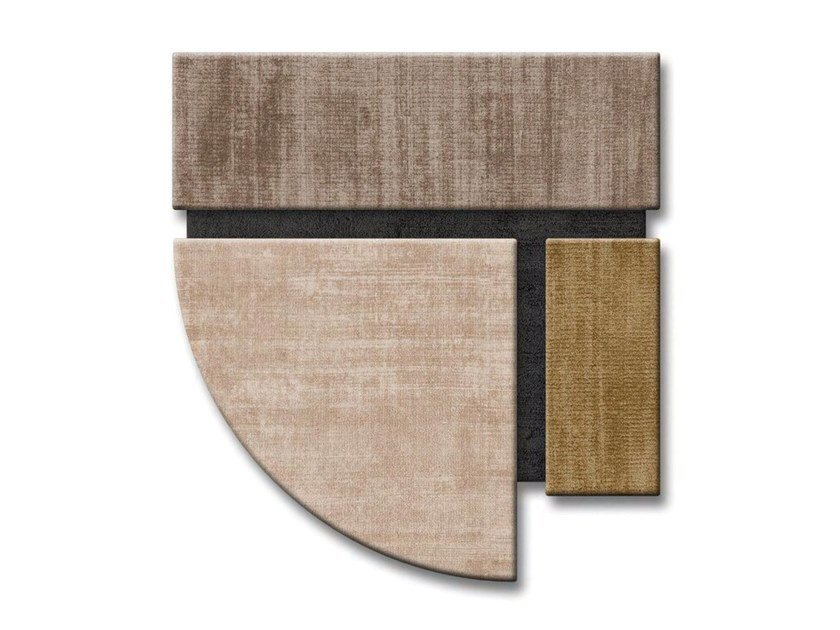 Handmade wool rug with geometric shapes FANGO by Sirecom Tappeti