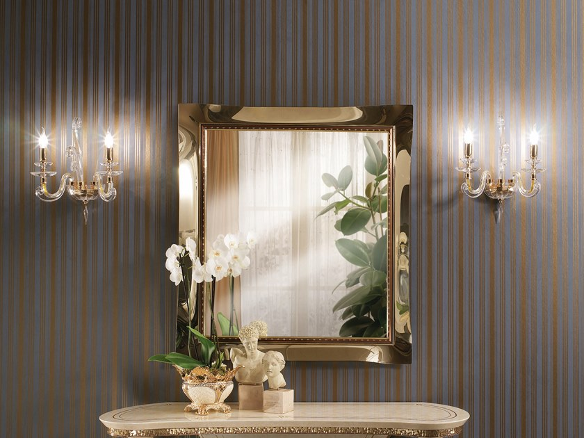 Framed glass mirror FANTASIA | Glass mirror by Arredoclassic