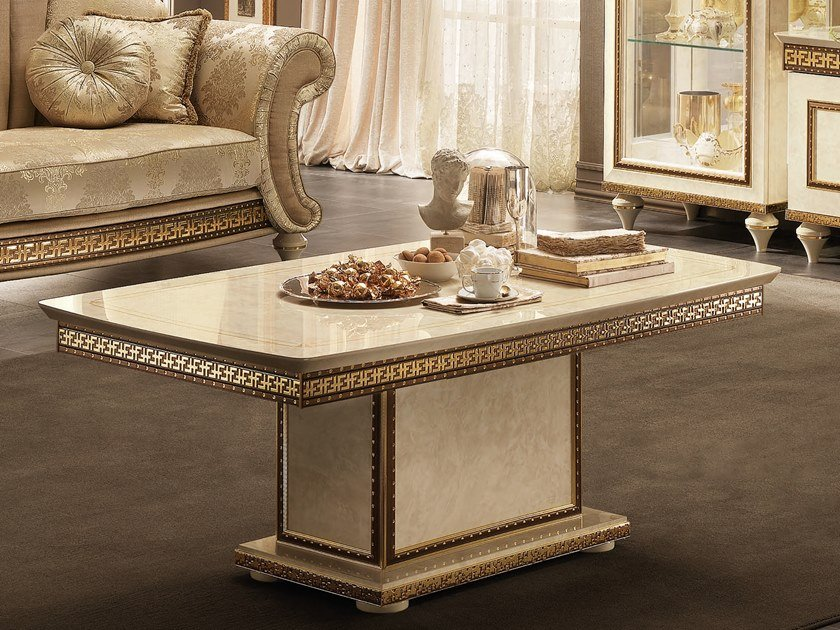 Rectangular coffee table for living room FANTASIA | Rectangular coffee table by Arredoclassic