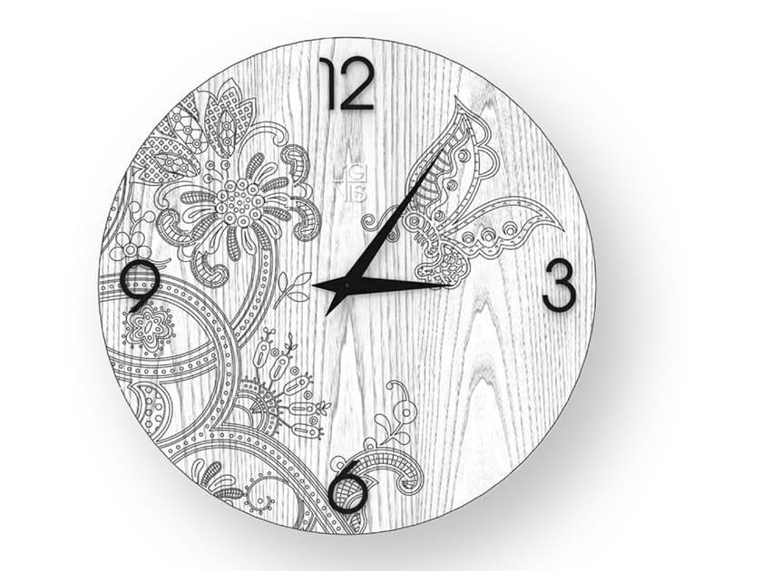 Orologio da parete in legno stuccato FANTASY COLD | Orologio by LIGNIS®