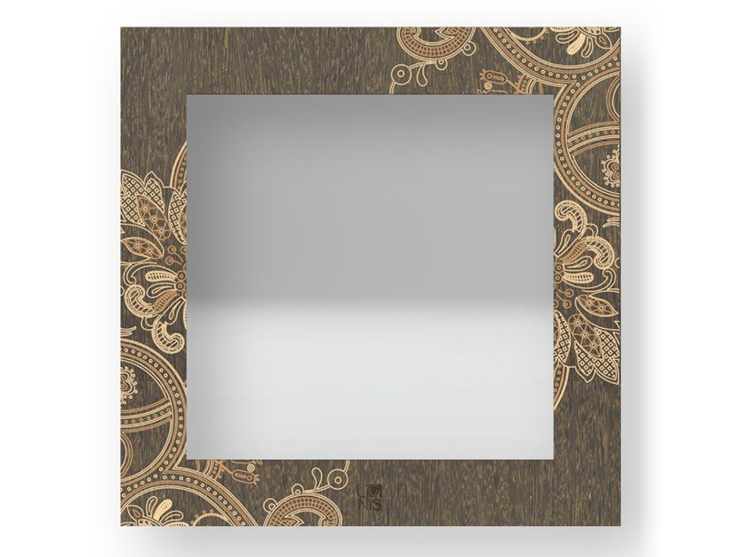 Specchio quadrato da parete con cornice FANTASY WARM   Specchio by LIGNIS®