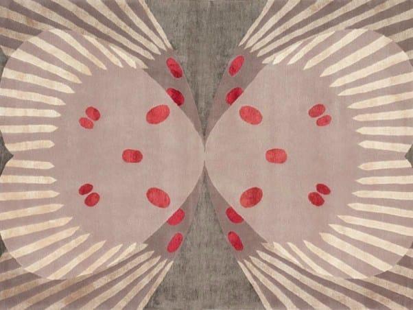 Handmade rectangular rug FARFALLA by Deirdre Dyson