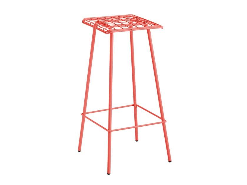 High galvanized steel garden stool FARO by iSimar