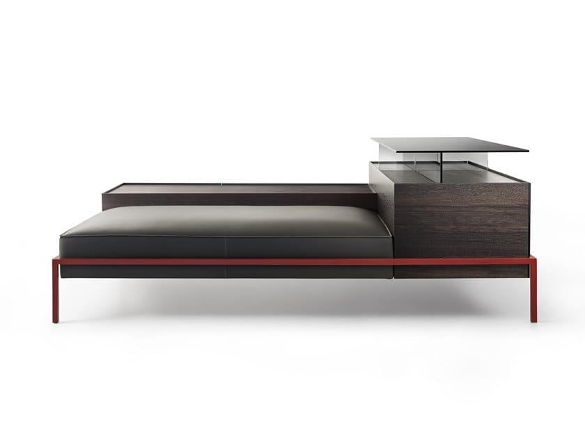 Storage modular leather bench FAROE by Lema