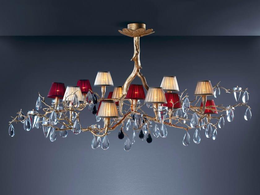 Halogen bronze pendant lamp with crystals FASCINIUM   Pendant lamp by Serip