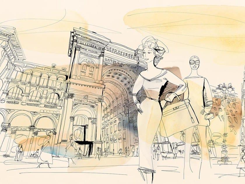 Carta da parati classica PVC free, eco, lavabile FASHION IN MILAN by Wallpepper