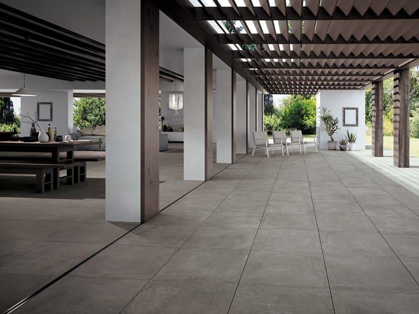 Bodenbelag Aus Feinsteinzeug Fur Innen Aussen Mit Beton Effekt Fast