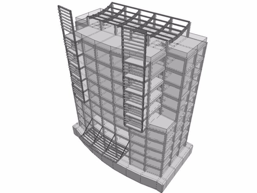Structural calculation for pre-compressed reinforced concrete FATA-E | Reinforced concrete by STACEC