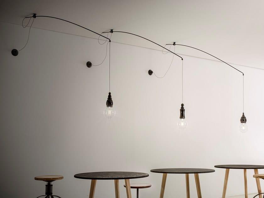 Lampada a sospensione in ceramica FATE - LENZA by Aldo Bernardi