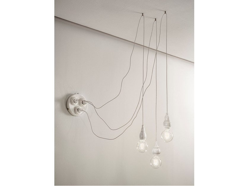 Ceramic pendant lamp FATE - MULTI SOCKET by Aldo Bernardi