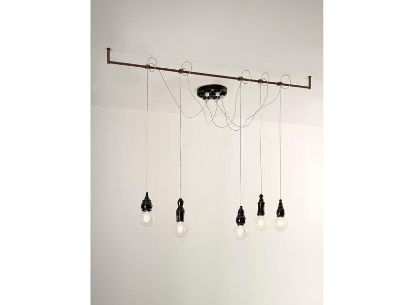 Ceramic pendant lamp FATE - RIGID SUPPORT by Aldo Bernardi