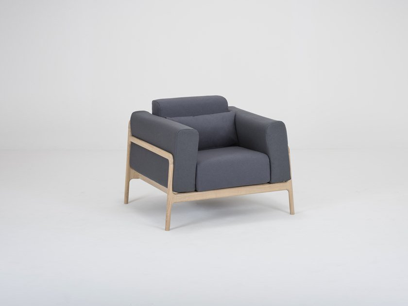 Fabric armchair with armrests FAWN | Fabric armchair by Gazzda