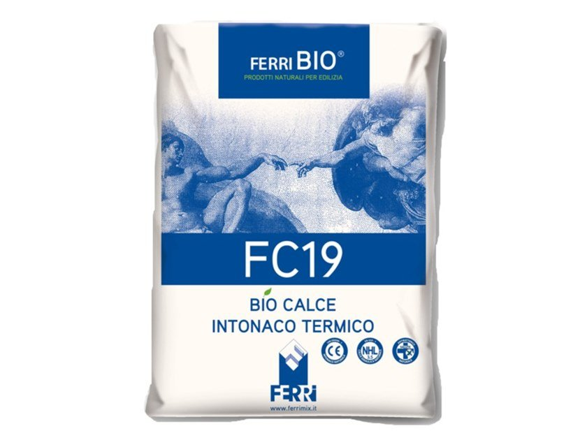 Thermal insulating plaster FC19 by Ferrimix