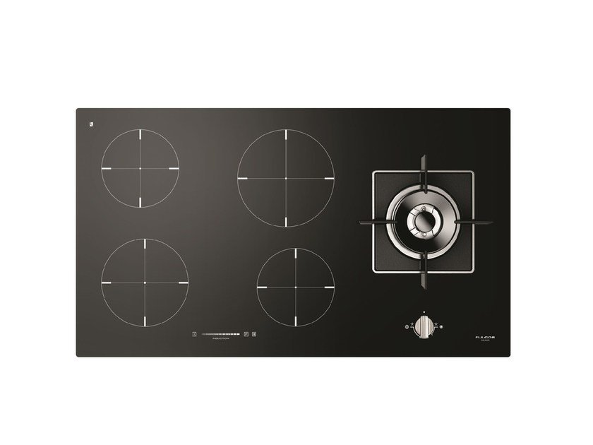 Gas induction glass ceramic hob FCH 905 ID TS G DWK | Hob by Fulgor Milano