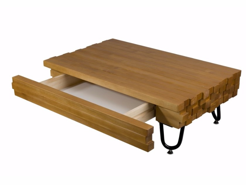 Wooden coffee table with storage space FCT0031 | Coffee table by Gie El Home