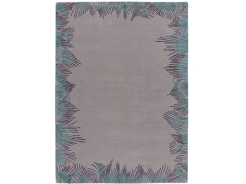 Hand knotted rug in tibetan wool and chinese silk FEATHER BOUND by Deirdre Dyson