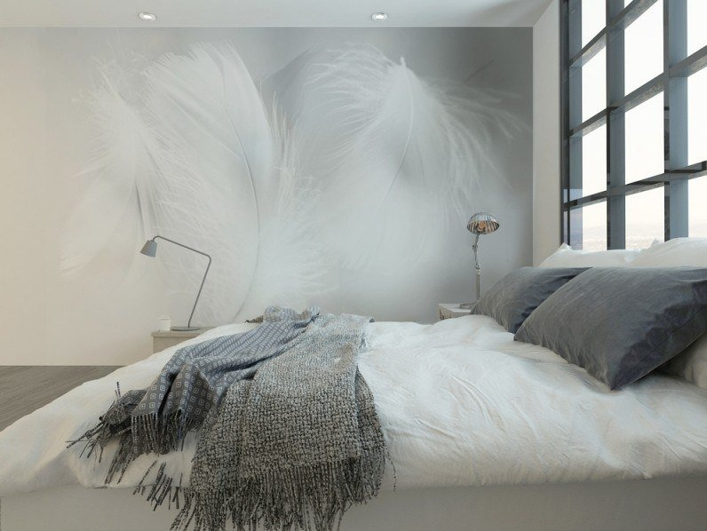 Panoramic JET TEX wallpaper FEATHERS 02 by ACTE-DECO