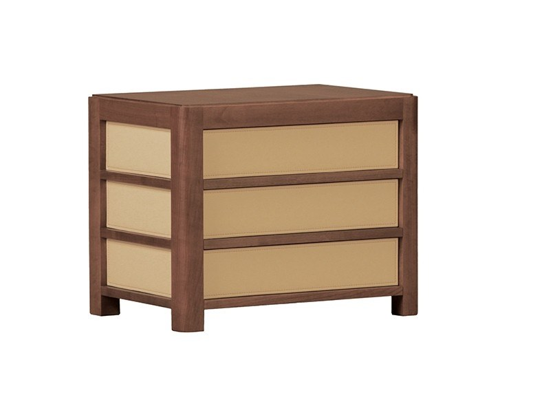 Rectangular cherry wood bedside table with drawers FEDELE | Bedside table by Morelato
