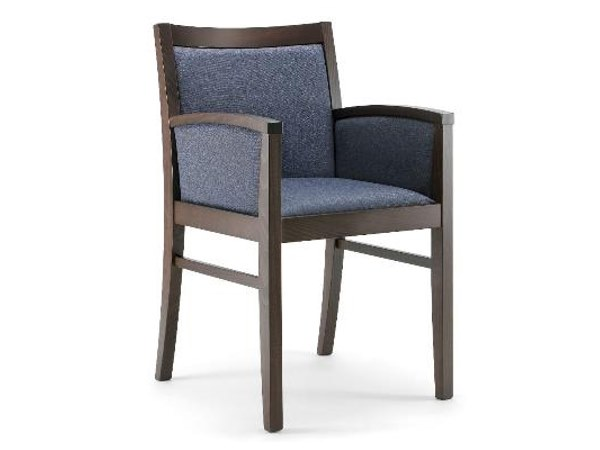 Upholstered fabric chair with armrests FEDRA   Chair with armrests by Cizeta L'Abbate