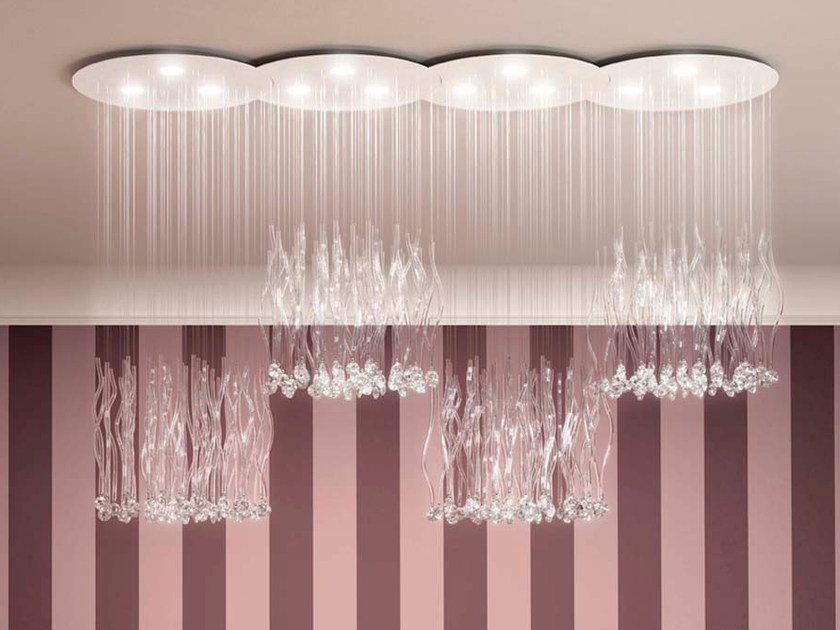 LED crystal ceiling lamp FEELING by Marchetti
