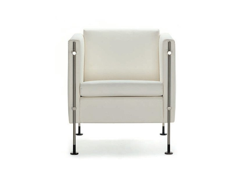 Upholstered leather armchair with armrests FELIX   Armchair by arflex