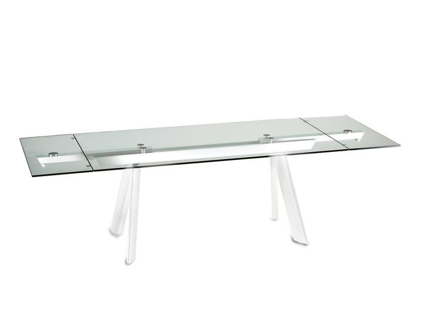 Extending Rectangular Crystal Dining Table Felix By Naos