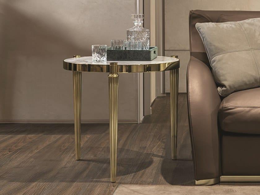 Tavolino di servizio in marmo FELIX | Tavolino da salotto by Longhi