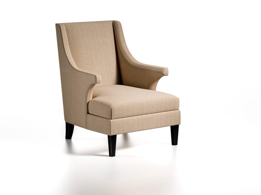 Fabric armchair with armrests FELLINI | Armchair by Caroti