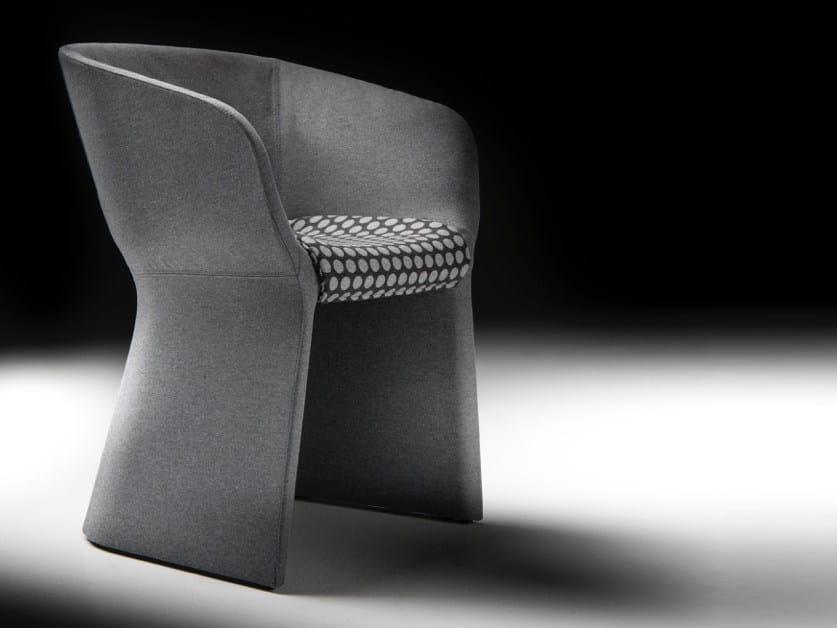 Felt guest chair MARGARITA | Felt easy chair by Diemme