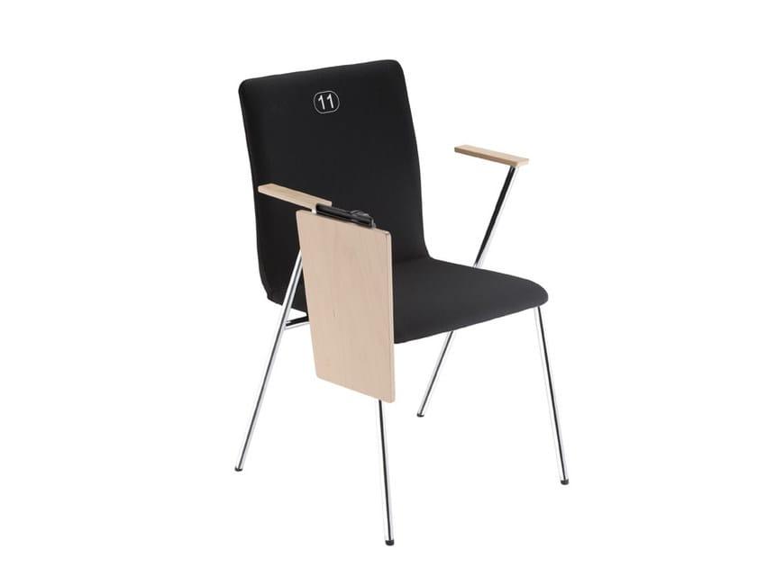 Sedie Ufficio Con Ribaltina : Sedia da conferenza in tessuto con ribaltina fen sedia da