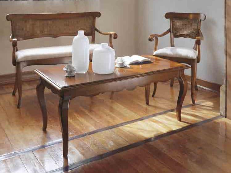Tavolino rettangolare in legno massello FENICE   Tavolino in legno massello by Arvestyle