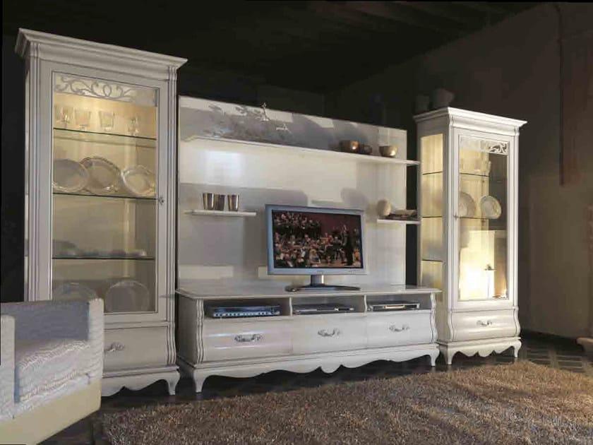 Raumteiler Wohnwand Aus Massivem Holz FENICE | Lackierte Wohnwand By  Arvestyle
