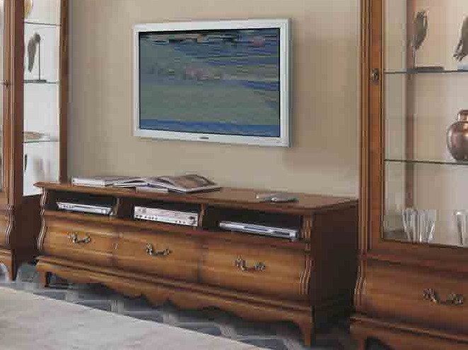 Solid wood TV cabinet with drawers FENICE | Solid wood TV cabinet by Arvestyle