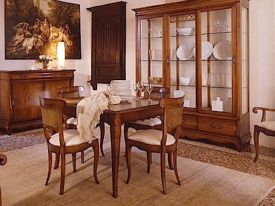 Extending cherry wood table FENICE   Square table by Arvestyle
